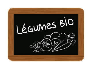 ardoise légumes bio