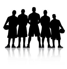 Basketball Team Silhouette vector