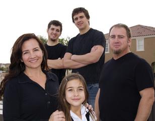 Happy group family shot