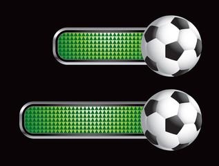 soccer ball green checkered tabs