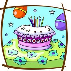 Illustration of celebration cake