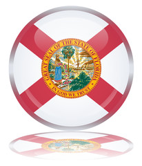 Florida State Round Flag Button (Floridian USA Vector America)