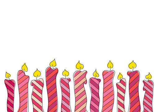 Geburtstagskerzen Bordüre