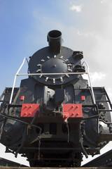 old locomotive frontal
