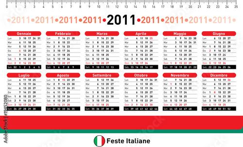 Calendario 2011 da tavolo con festivit italiane immagini e vettoriali royalty free su fotolia - Calendari da tavolo con foto ...