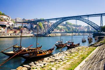 Fototapete - Dom Luis I Bridge, Porto, Douro Province, Portugal
