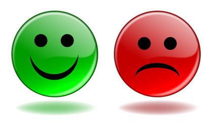 """Boutons Web """"SMILEY"""" (Oui Non Positif Négatif Vote Avis Client)"""