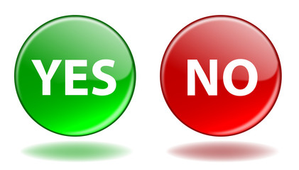 YES & NO Web Buttons (Positive Negative Vote Opinion Survey OK)