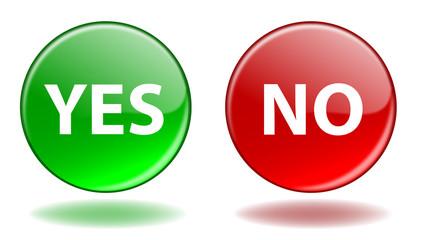YES & NO Web Buttons (Positive Negative Vote Opinion Survey OK)