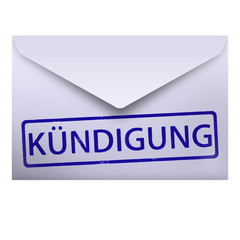 blauer brief kündigung entlassung briefumschlag blau