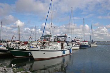 yachts in marina, Holland