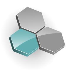 Logo hexagons