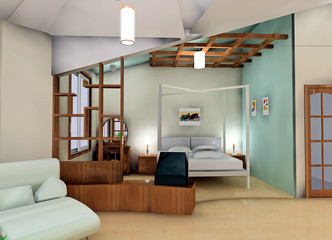 a snug bedroom design proposal