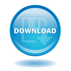 """DOWNLOAD"" round web button (vector - internet - online)"
