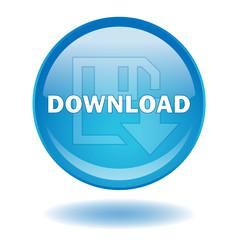 """""""DOWNLOAD"""" round web button (vector - internet - online)"""