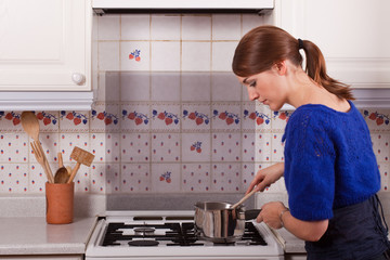 Young Lady Cooking