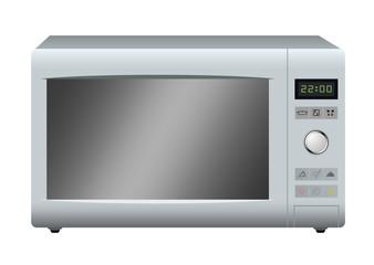 Modern microwave. Vector.