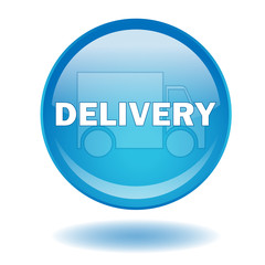 """DELIVERY"" round web button (vector - shopping- online)"