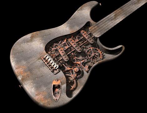 Grungy steam punk guitar