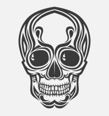 Stylized vector skull