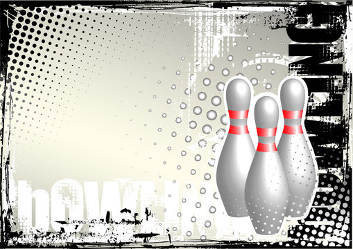 bowling grunge poster background