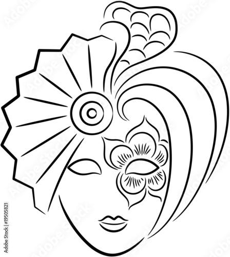 Раскраска маски театральные