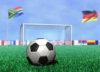 Fußball vor Tor