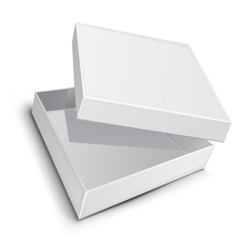 almost open blank packaging box vector