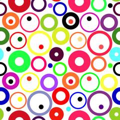 Retro vivid seamless circle background