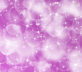 Glittery And Sparkly Purple Heart and Lights Background