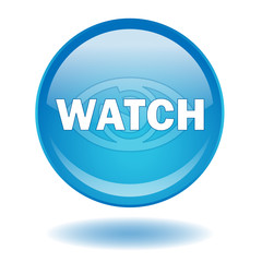 """WATCH"" web button (clip video eye symbol media blue)"