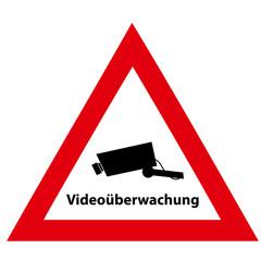 Videoüberwachung Schild