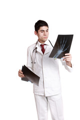 Caucasian mid adult male doctor