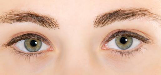 woman eyes closeup