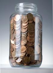 pennies jar