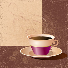 Illustration of a cup of coffee. Vector.
