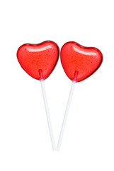 Two Lollipops Making A Heart Shape