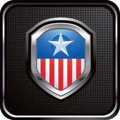 patriot shield black web button