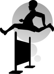 Illustration of boy jumping to the exercise