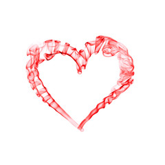 smoke red heart for valentine day