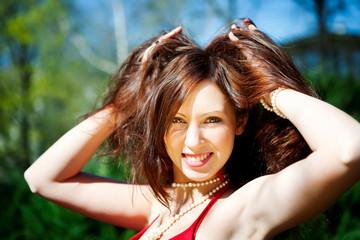 happy woman smiling portrait
