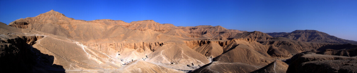 Stitched panorama of the Valley of the Kings - Luxor - Egypt