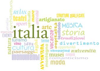 logo italia aggettivi