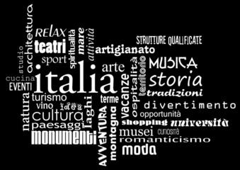 logo italia aggettivi bn