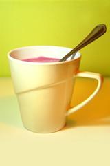 Yogurt in a mug