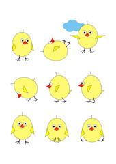 Chickens in set