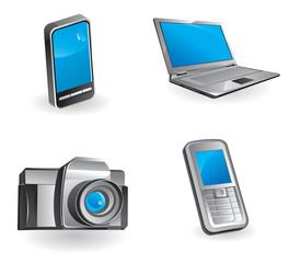 Multimedia & communication icon set