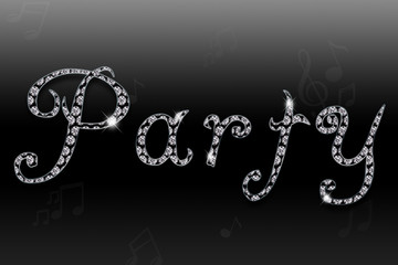 Party Diamanten Text