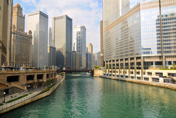 Morning on the Chicago River