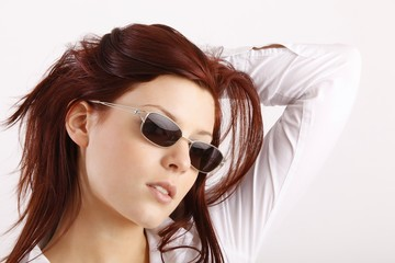 Beauty with sunglasses